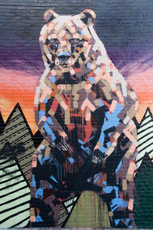 Bear wall mural